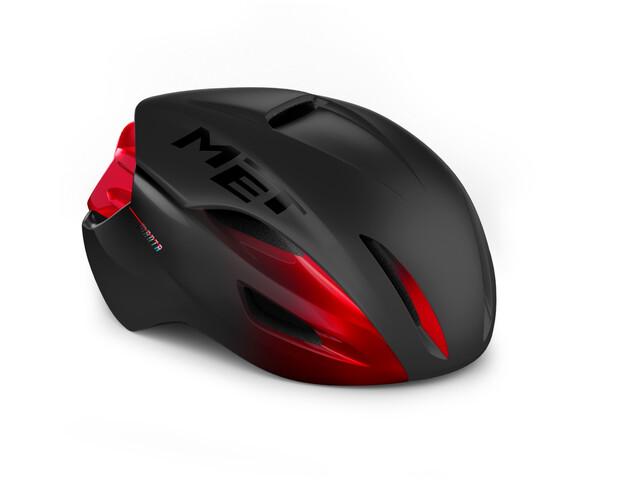 MET Manta MIPS Helmet, negro/rojo